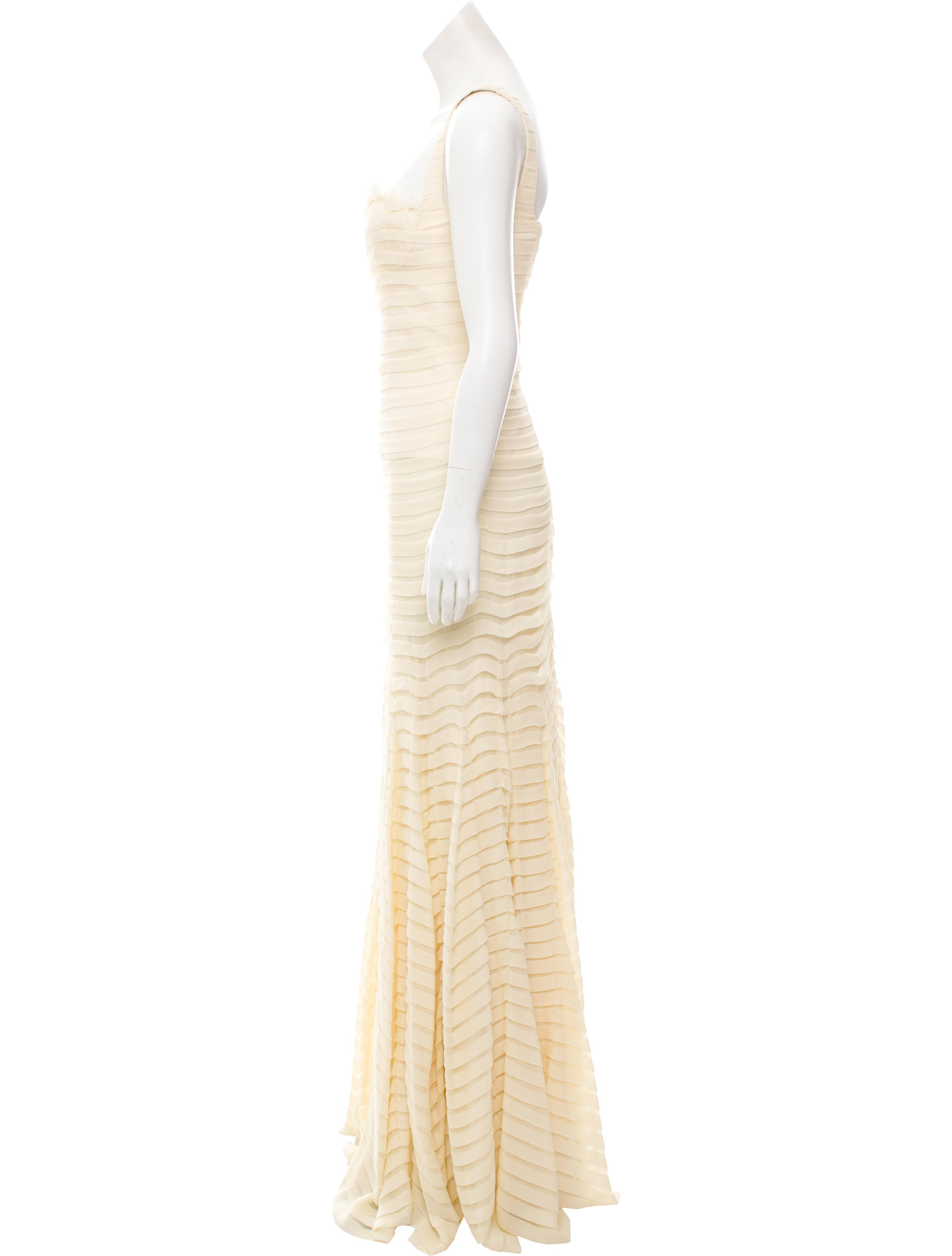 Alexander McQueen Silk Pleated Gown - Clothing - ALE50065 | The RealReal