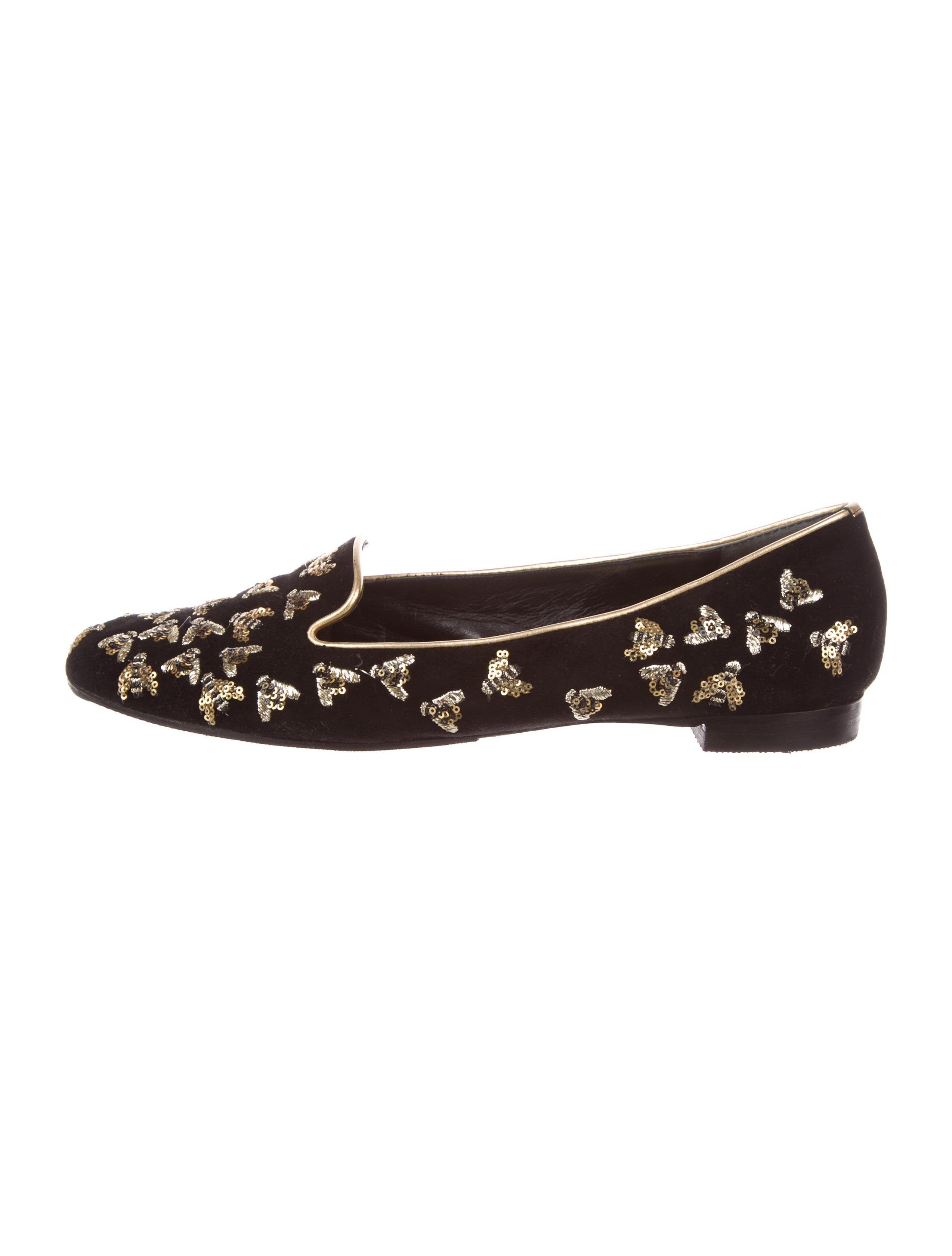 Alexander McQueen 2017 Sequined Bee Loafers free shipping prices 7XUVNZzf5Q