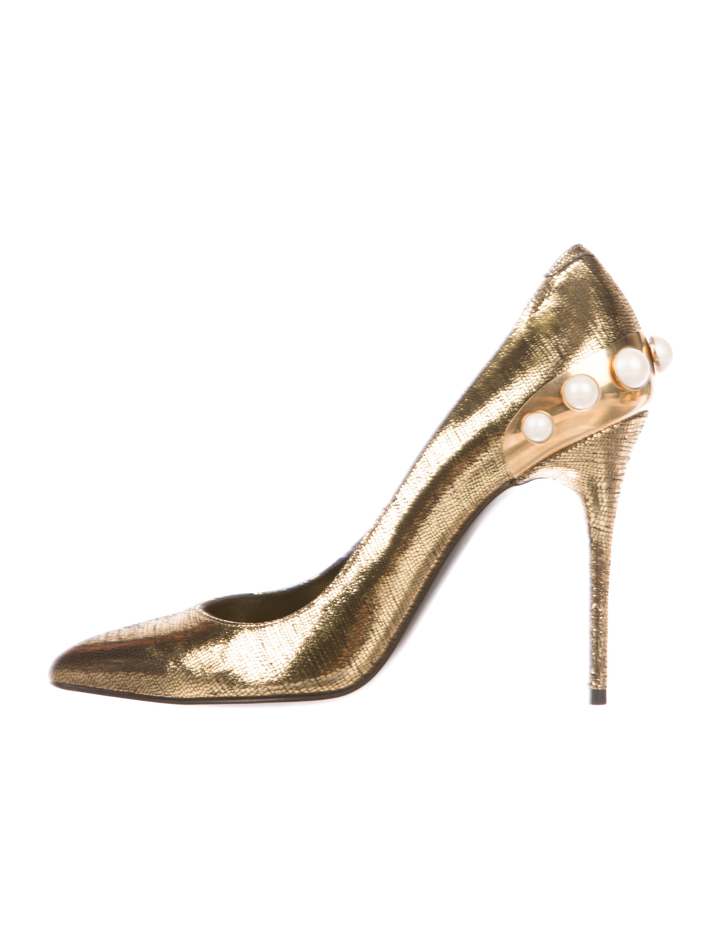 Alexander McQueen Leather Faux-Pearl Accented Pumps for sale cheap authentic h7S3VPC5