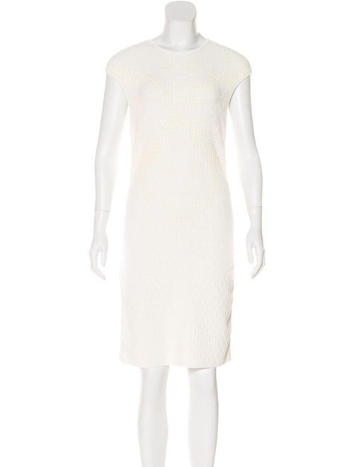 Alexander McQueen Textured Knit Dress White