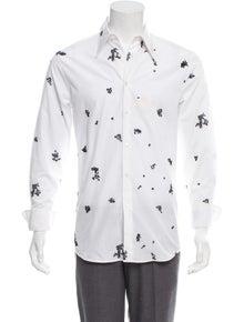 3446c8d62f944e Alexander McQueen. Embroidered Dress Shirt