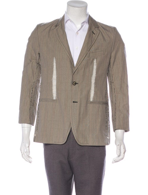 Alexander McQueen Distressed Sport Coat tan