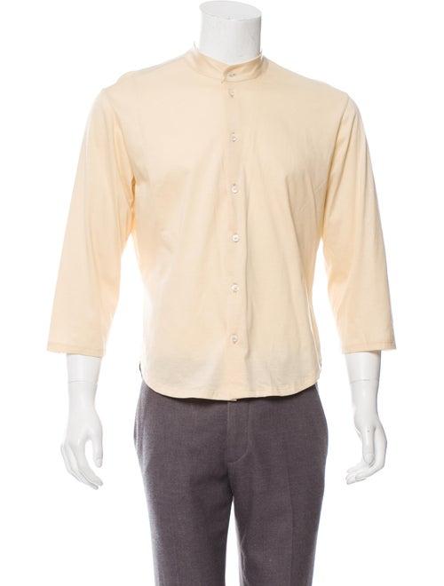 Alexander McQueen Mandarin Collar Button-Up Shirt