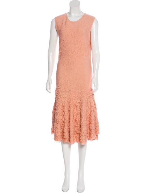 Alexander McQueen Textured Knit Dress Pink