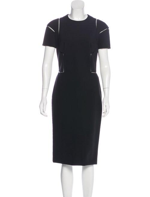 Alexander McQueen Short Sleeve Jersey Dress Black