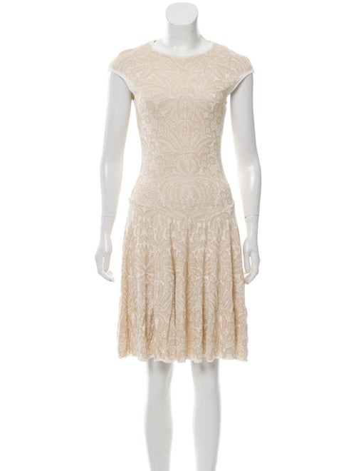 Alexander McQueen Sleeveless Knit Dress White