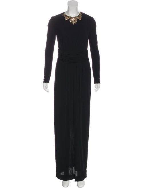 Alexander McQueen Embellished Jersey Dress Black