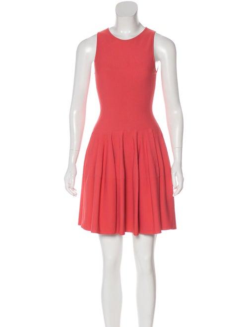 Alexander McQueen Sleeveless Flared Dress Coral