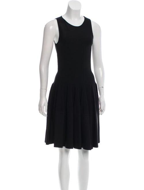 Alexander McQueen Flared Sleeveless Dress Black