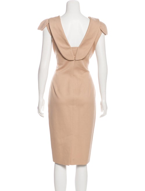 Alexander McQueen Textured Midi Dress