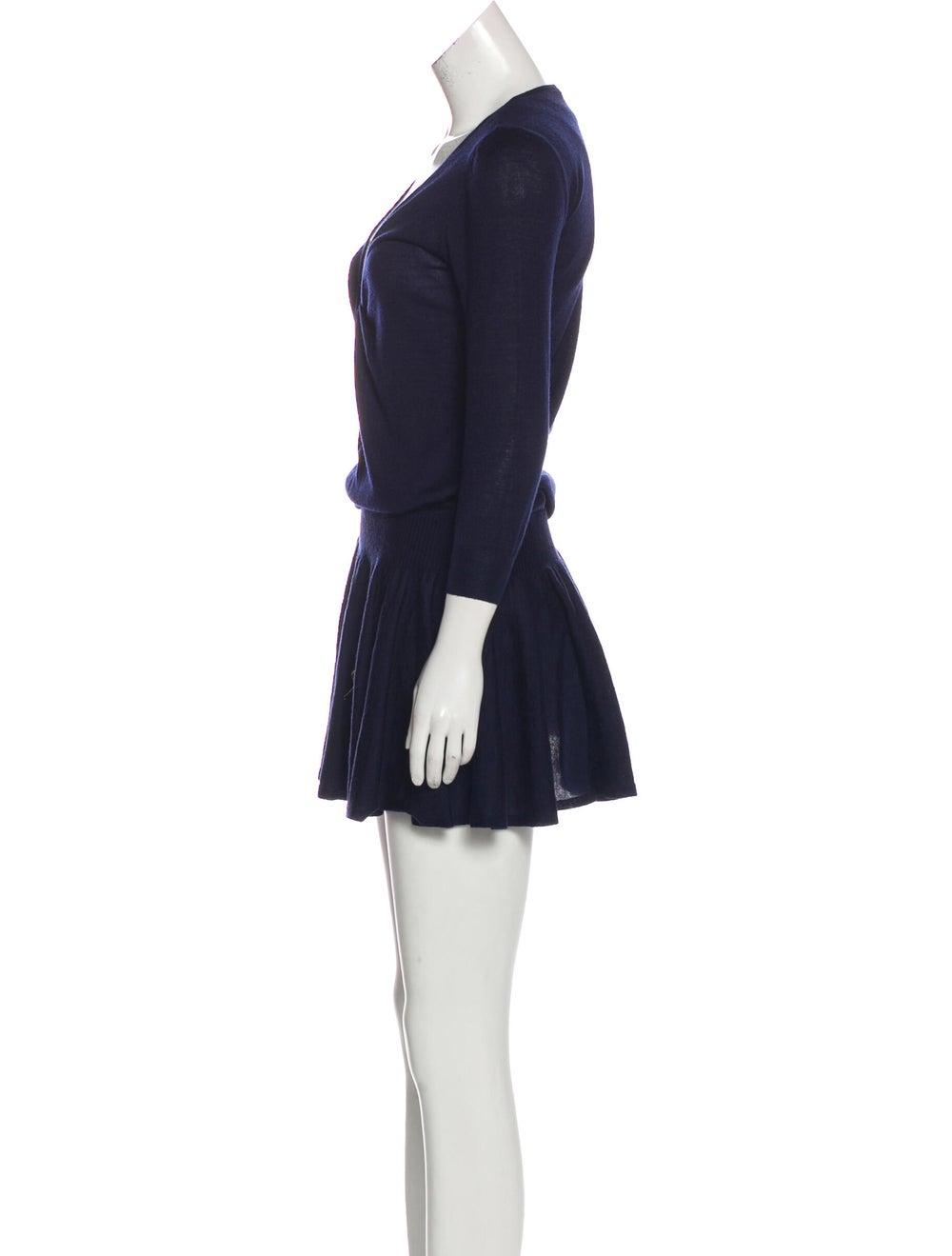 Alexander McQueen Flared Sweater Dress Navy - image 2