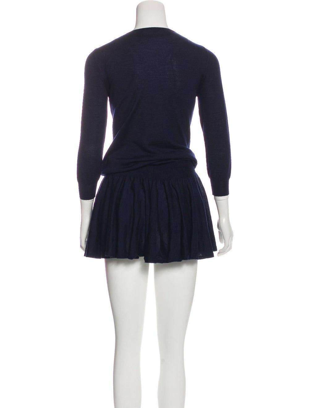 Alexander McQueen Flared Sweater Dress Navy - image 3