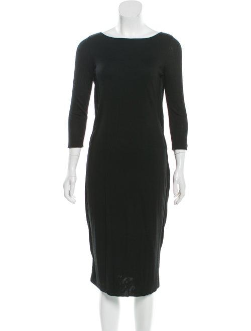 Alexander McQueen Midi Sweater Dress Black
