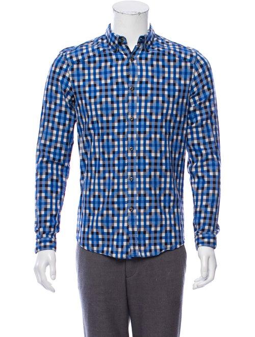 Alexander McQueen Checkered Button-Up Shirt multic