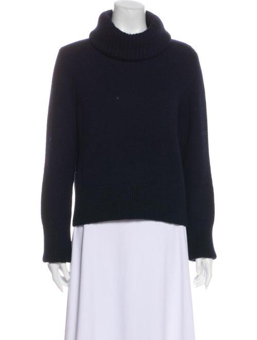 Alexander McQueen Turtleneck Sweater Blue