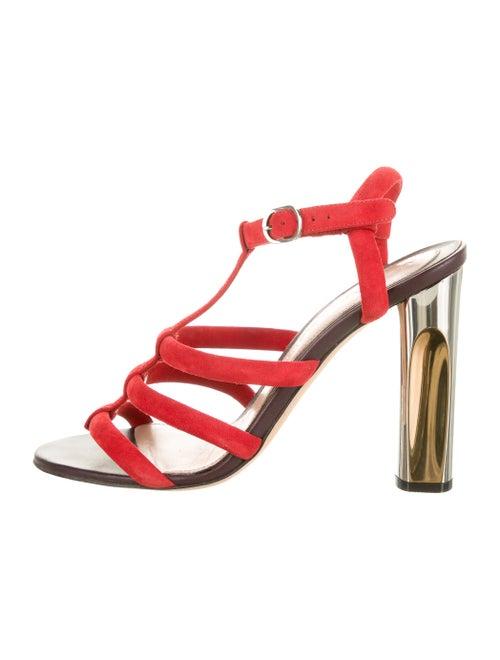 Alexander McQueen Suede Sandals Red