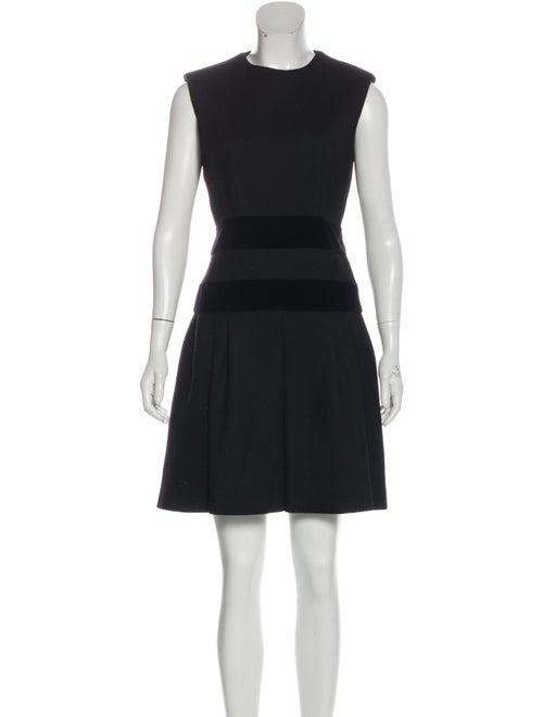 Alexander McQueen Sleeveless Flared Dress Black