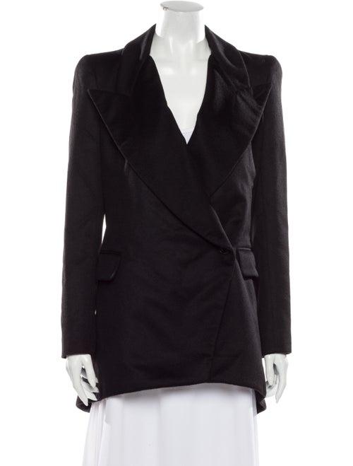 Alexander McQueen Cashmere Coat Black