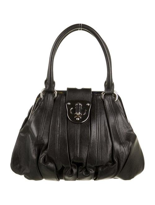 Alexander McQueen Leather Elvie Bag Black