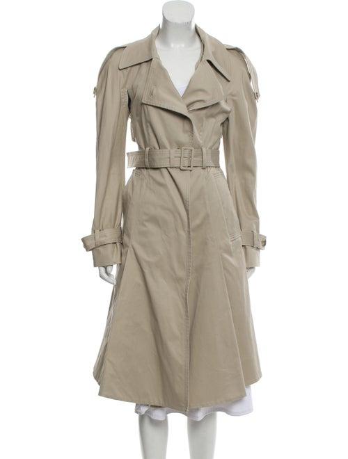 Alexander McQueen Belted Trench Coat Khaki