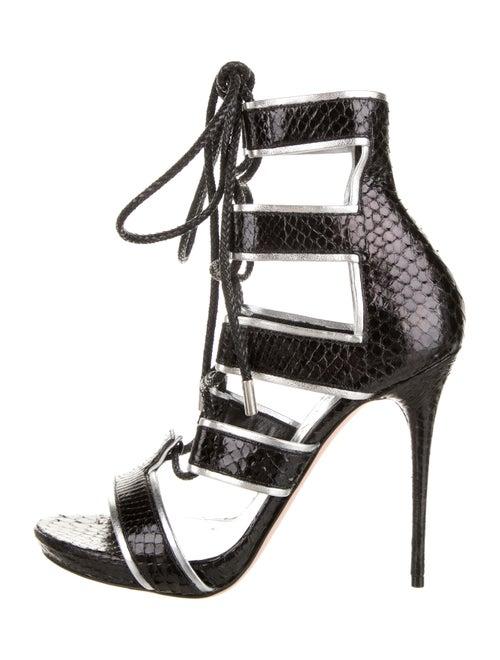 Alexander McQueen Snakeskin Platform Sandals Black - image 1