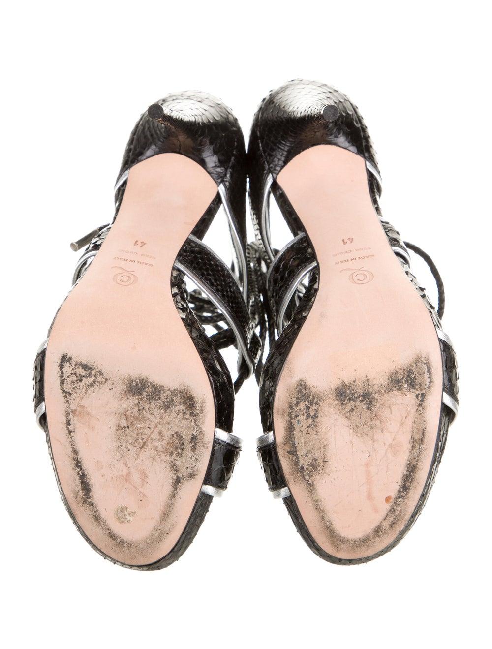 Alexander McQueen Snakeskin Platform Sandals Black - image 5