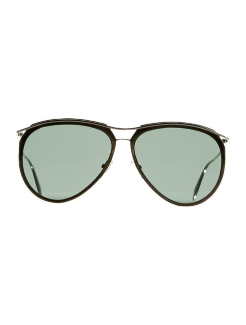 Alexander McQueen Tinted Aviator Sunglasses Brown