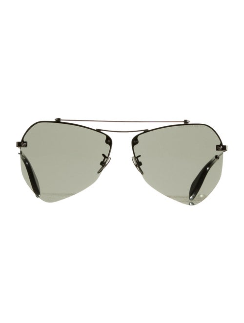 Alexander McQueen Rimless Tinted Sunglasses Black