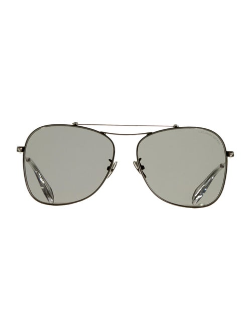 Alexander McQueen Tinted Aviator Sunglasses clear