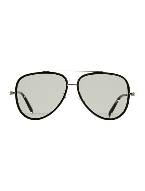 Alexander McQueen Tinted Aviator Sunglasses Black