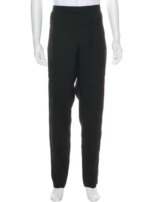 Alexander McQueen Glen Plaid Crepe Pants black