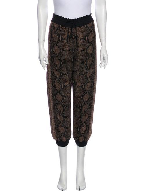 Alexander McQueen Animal Print Sweatpants Brown