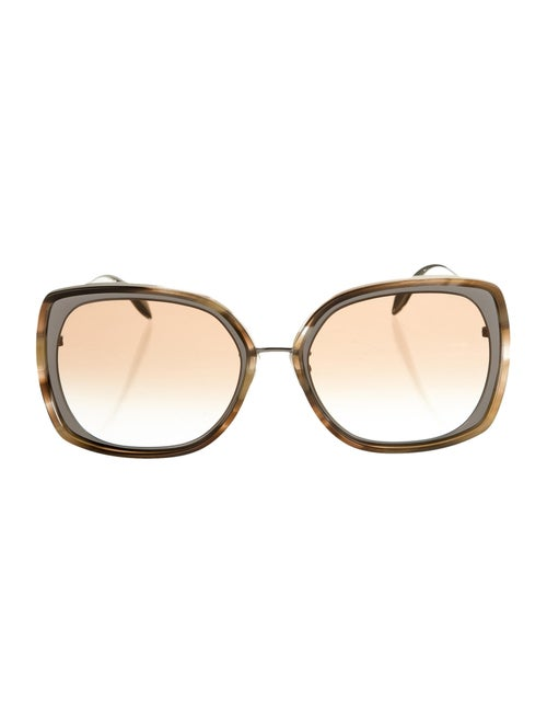 Alexander McQueen Oversize Tinted Sunglasses Brown
