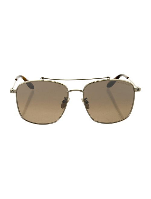 Alexander McQueen Square Tinted Sunglasses Gold