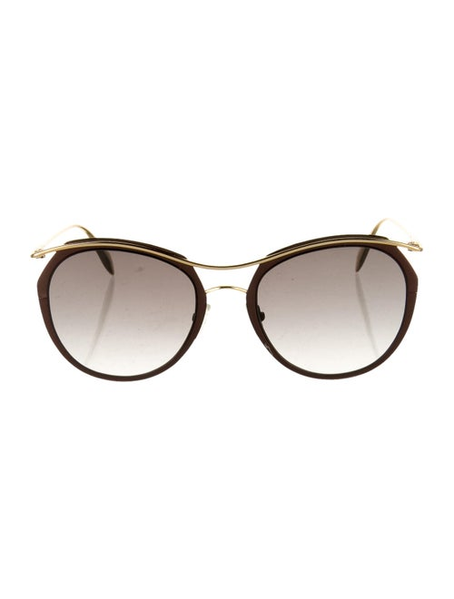 Alexander McQueen Round Tinted Sunglasses Brown