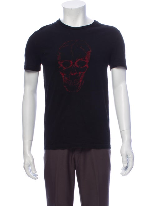 Alexander McQueen Skull Crew Neck T-Shirt black