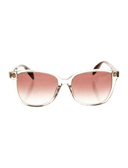 Alexander McQueen Square Acetate Sunglasses Brown