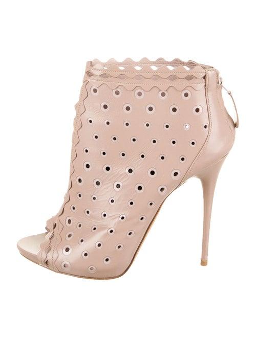 Alexander McQueen Leather Boots Pink