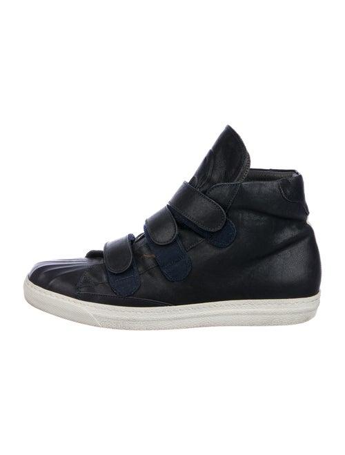 Alexander McQueen Leather Sneakers Blue - image 1