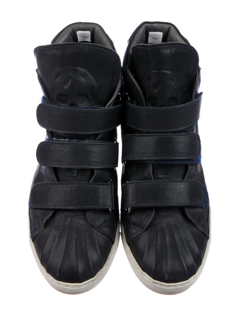 Alexander McQueen Leather Sneakers Blue - image 3