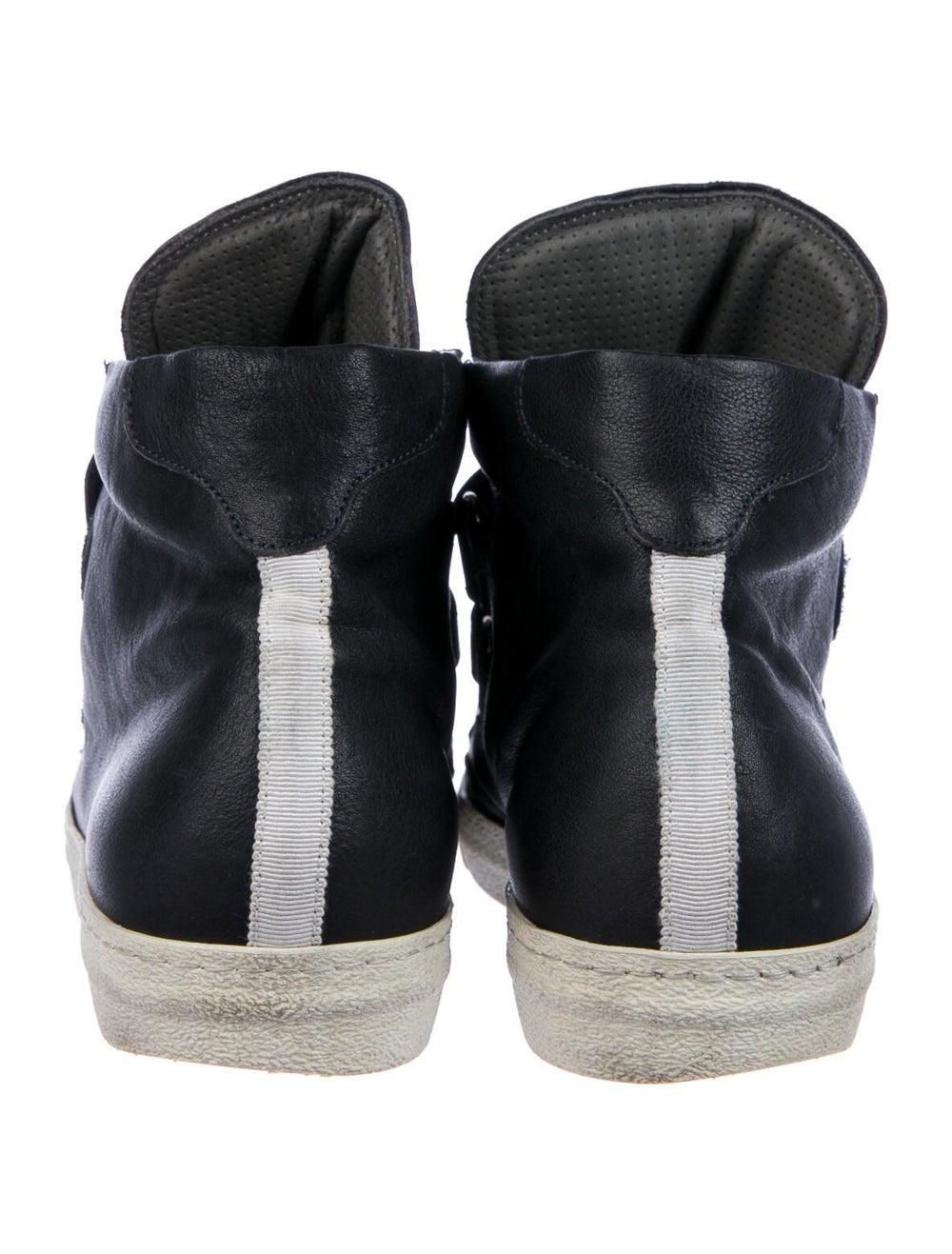 Alexander McQueen Leather Sneakers Blue - image 4