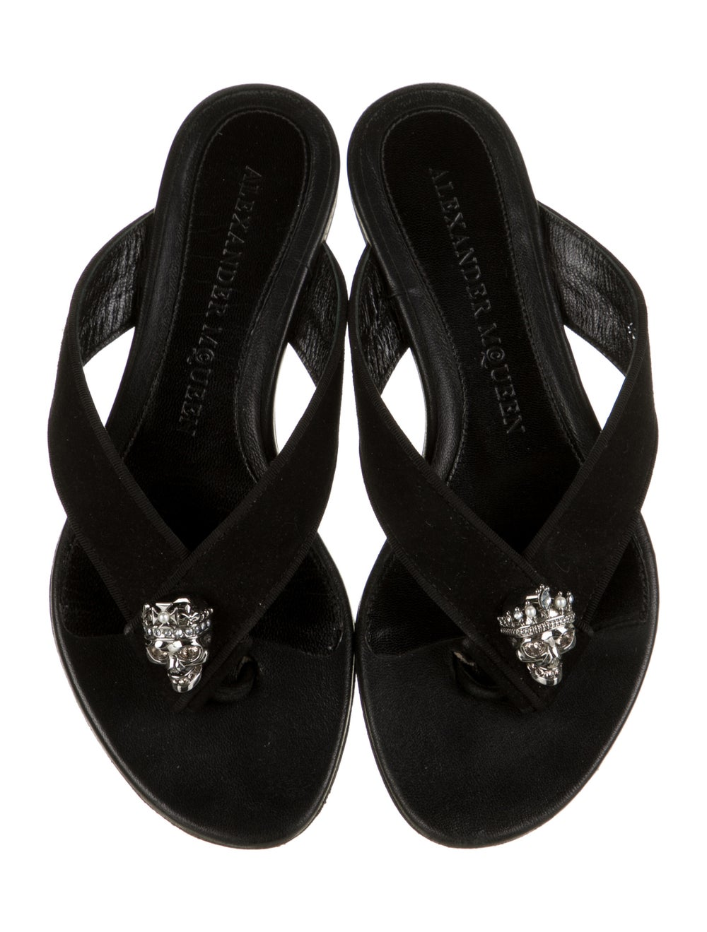 Alexander McQueen Suede Slides Black - image 3