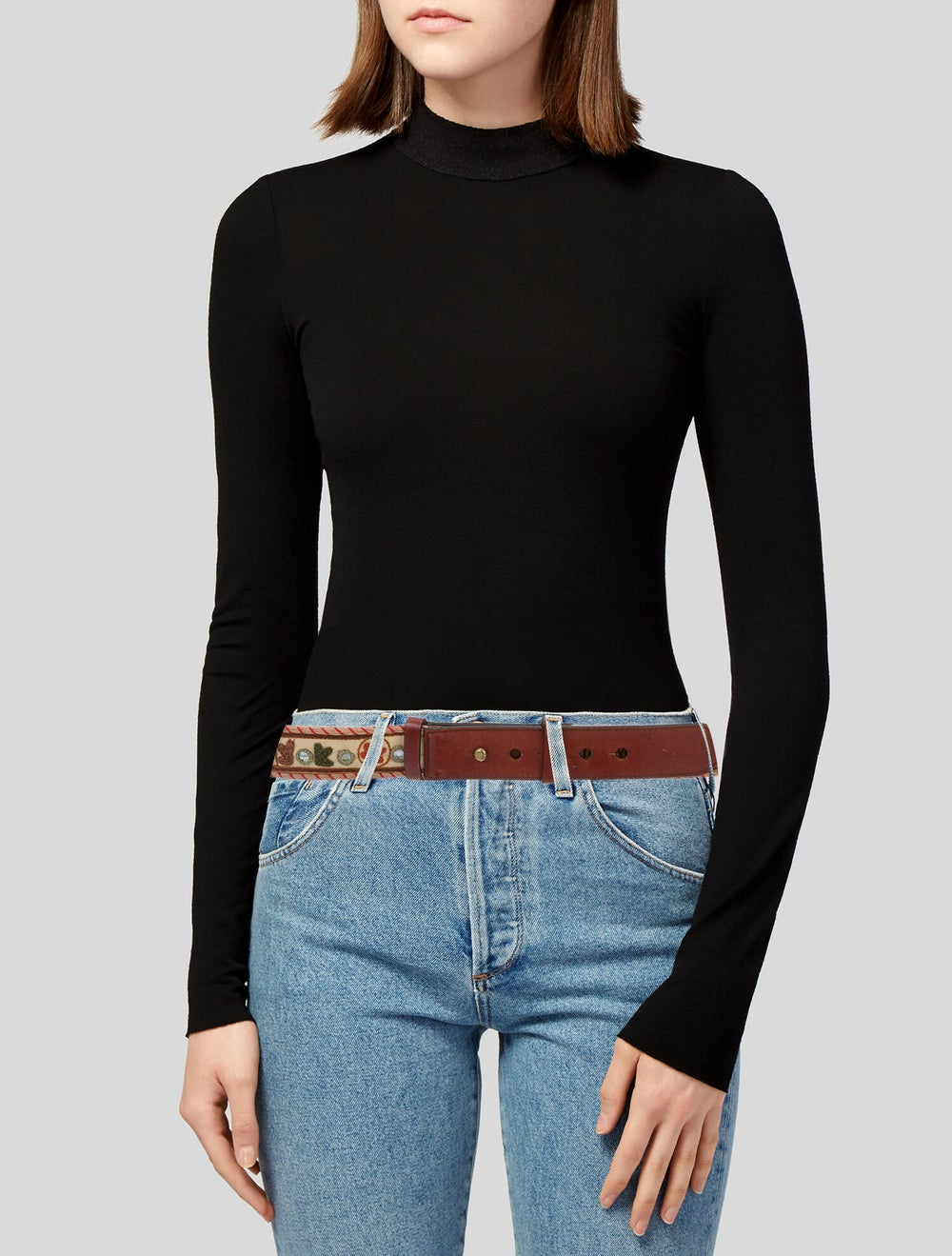 Alexander McQueen Embroidered Hip Belt Tan - image 2