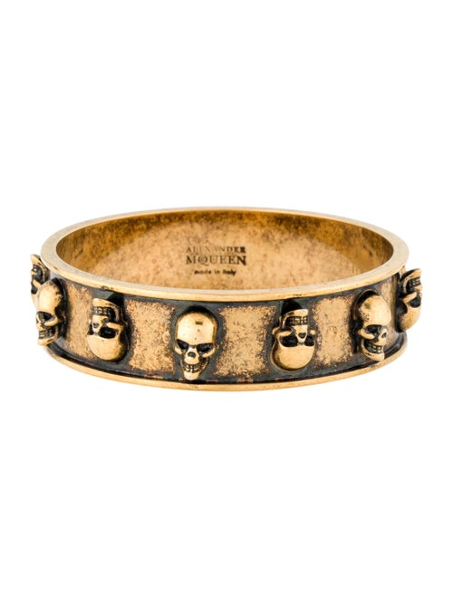 Alexander McQueen Skull Embellished Bangle Brass - image 1