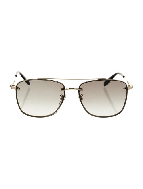 Alexander McQueen Aviator Gradient Sunglasses Gold