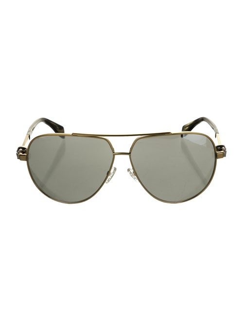 Alexander McQueen Aviator Tinted Sunglasses Gold