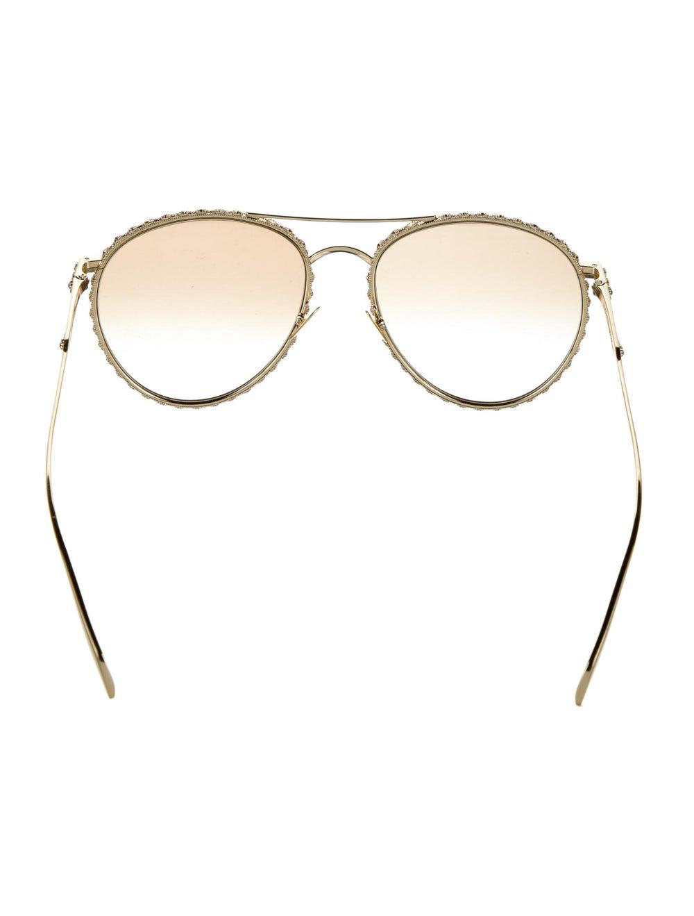 Alexander McQueen Aviator Gradient Sunglasses Gold - image 3