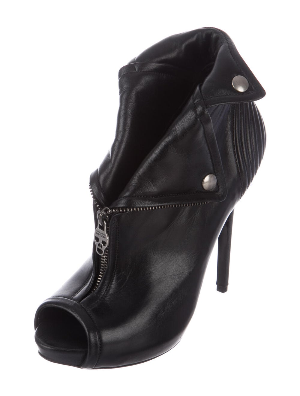 Alexander McQueen Leather Boots Black - image 2