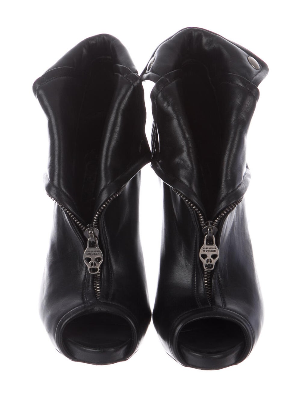 Alexander McQueen Leather Boots Black - image 3