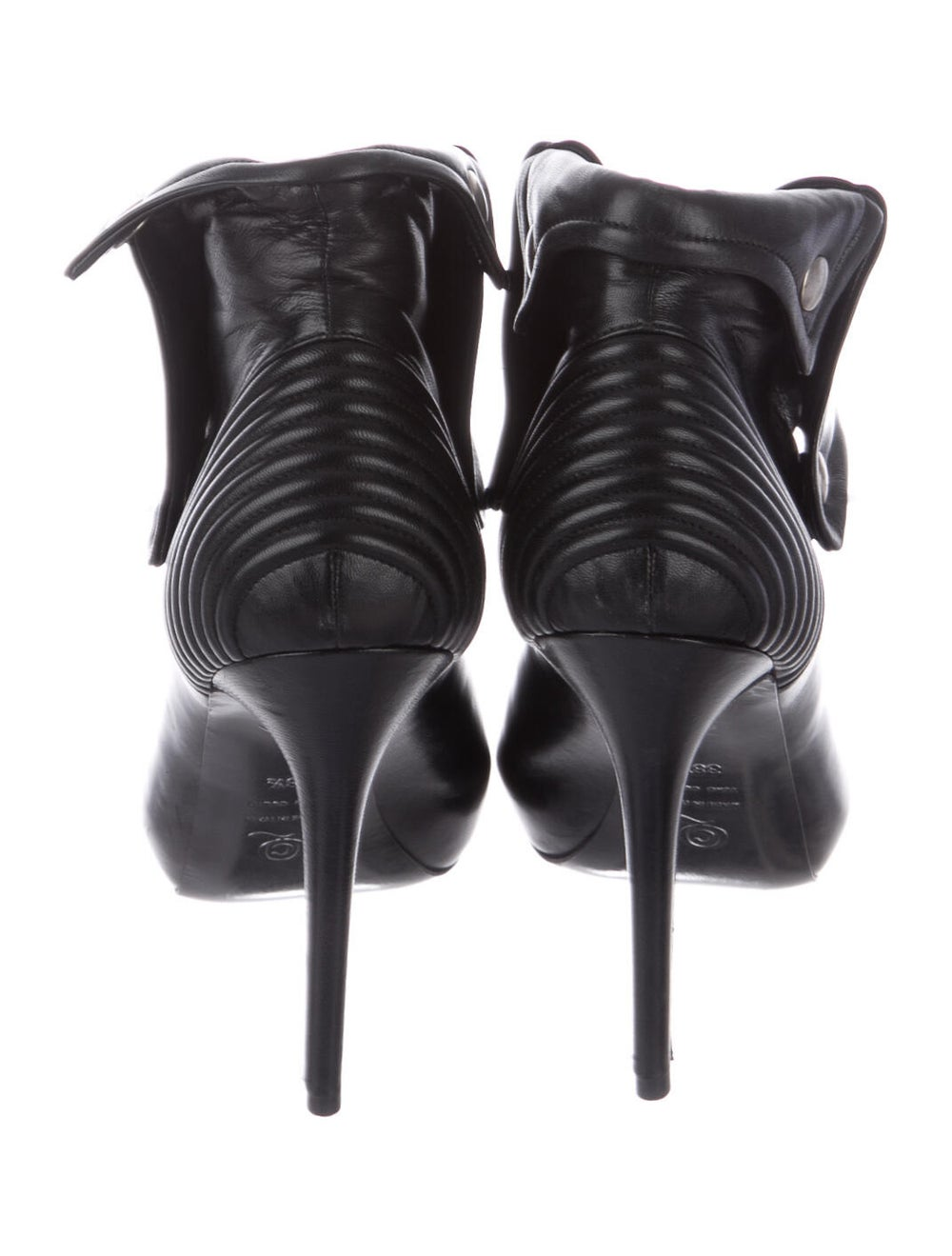 Alexander McQueen Leather Boots Black - image 4